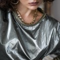 chain necklace 3rdfloor brass κολιε μαύρο χειροποίητο