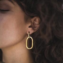 σκουλαρίκια ασημί χειροποίητο bantouvani unisex minimal επαργυρωμένο