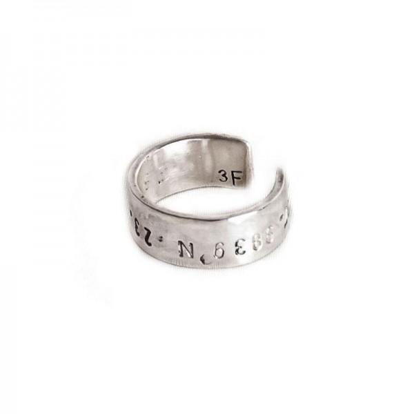 δαχτυλίδι ασημί χειροποίητο bantouvani unisex minimal ring επαργυρωμένο