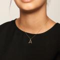 κολιέ αλυσίδα κρεμαστό γράμμα μονόγραμμα πέτρες αρχικό γυναικείο pdpaola ασήμι925 minimal κρεμαστά bantouvani silver
