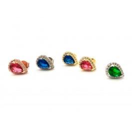 σκουλαρίκια ασήμι 925 minimal κρεμαστά bantouvani silver κρίκοι ζιρκόνιο μικρά γυναικείο πέτρες γάμο