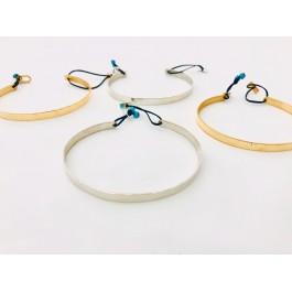 βραχιολι βέργα απλή ασήμι χρυσό επιχρυσωμένο unisex handmade
