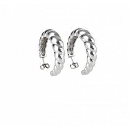 σκουλαρικια ασήμι925 minimal κρεμαστά bantouvani silver κρίκοι πλεξούδα vintage
