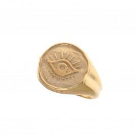 ring δαχτυλιδι ασημενιο silver απλό minimal bantouvani chevalier initial name αρχικό