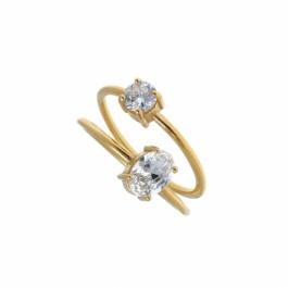 ring δαχτυλιδι ασημενιο silver απλό minimal bantouvani chevalier πέτρα ζιρκόνιο vintage elegant
