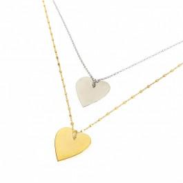 μονόγραμμα κολιέ ασημένιο αρχικά καρδιά κρεμαστό bantouvani κόσμημα
