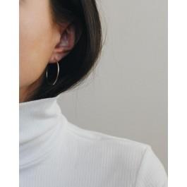 σκουλαρικια ασήμι925 minimal κρεμαστά bantouvani silver κρίκοι hoops earrings