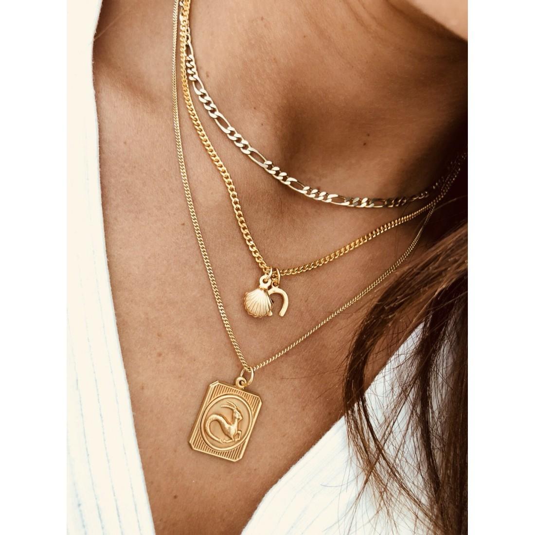 1d331e1c12 ... κολιέ κρεμαστό ασήμι χρυσό επιχρυσωμένο πέταλο κοχύλι αλυσίδα χοντρή  vintage bantouvani