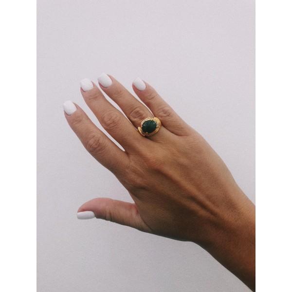 ring δαχτυλιδι ασημενιο silver bantouvani chevalier κοσμήματα γυναικείο βίνταζ vintage πέτρα ημιπολύτιμη χρυσό