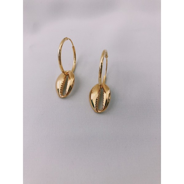 σκουλαρικια ασήμι925 minimal κρεμαστά bantouvani silver κρίκοι χειροποίητο κοχύλι γυναικείο δώρο