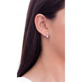 σκουλαρίκια ασήμι 925 minimal κρεμαστά bantouvani silver κρίκοι ζιρκόνιο μικρά γυναικείο