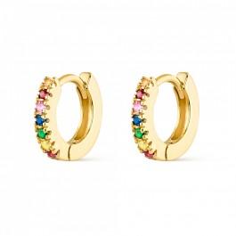 σκουλαρικια ασήμι 925 bantouvani silver gold earrings zircon χρωματιστά πέτρες ζιρκόν