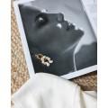 σκουλαρικια ασήμι 925 minimal κρεμαστά bantouvani silver χειροποίητο κοχύλι γυναικείο δώρο μαργαριτάρι