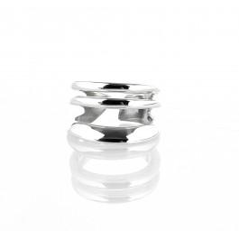 ring δαχτυλιδι ασημενιο silver minimal triply trouble bantouvani unisex τριπλό